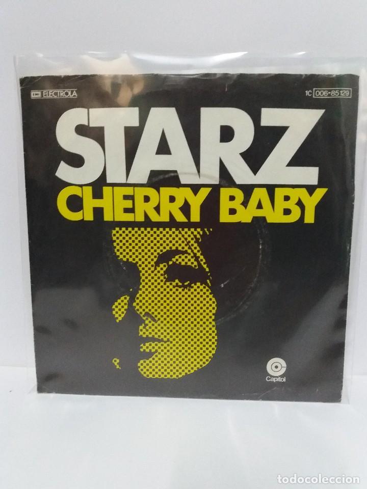 SINGLE ** STARZ ** CHERRY BABY ** COVER/ VERY GOOD+/ EXCELLENT ** SINGLE/ EXCELLENT ** 1977 (Música - Discos - Singles Vinilo - Pop - Rock - Extranjero de los 70)