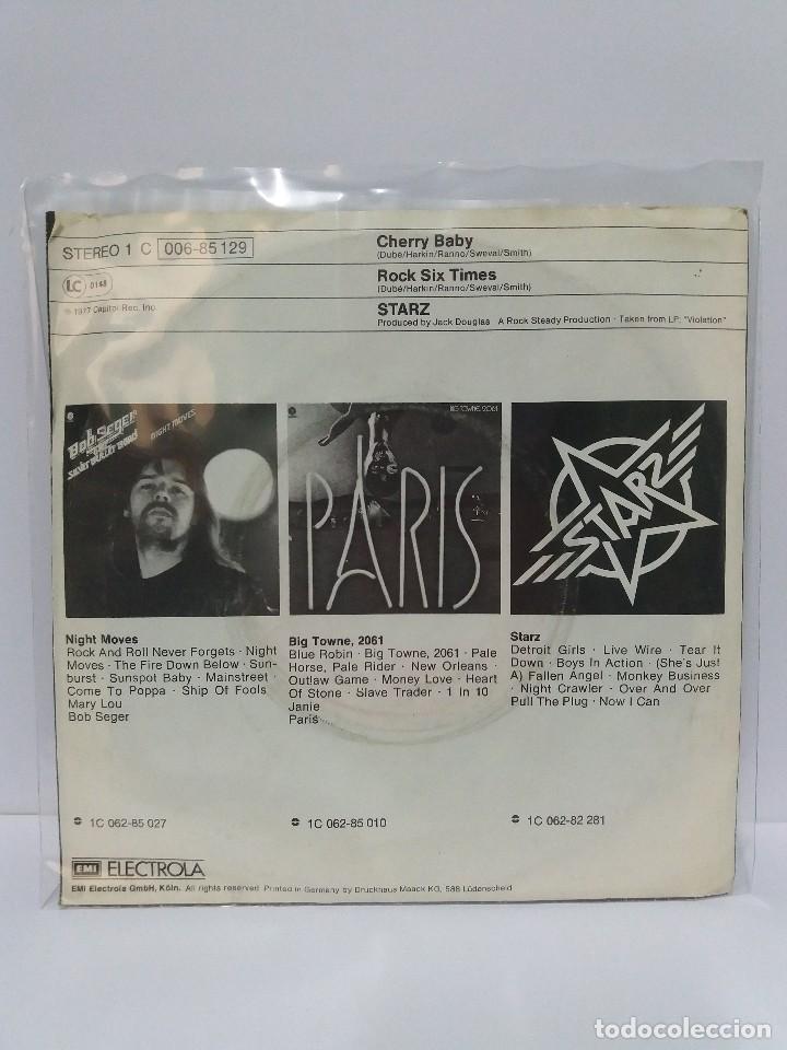 Discos de vinilo: SINGLE ** STARZ ** CHERRY BABY ** COVER/ VERY GOOD+/ EXCELLENT ** SINGLE/ EXCELLENT ** 1977 - Foto 2 - 120327575