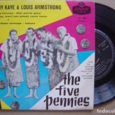 Discos de vinilo: DANNY KAYE & LOUIS ARMSTRONG . THE FIVE PENNIES - EP DANES LONDON. Lote 120331147
