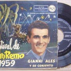 Discos de vinilo: GIANNI ALES Y SU CONJUNTO - CHAO CHAO BAMBINA - EP RCA - 1959 - FESTIVAL DE SAN REMO. Lote 120334675