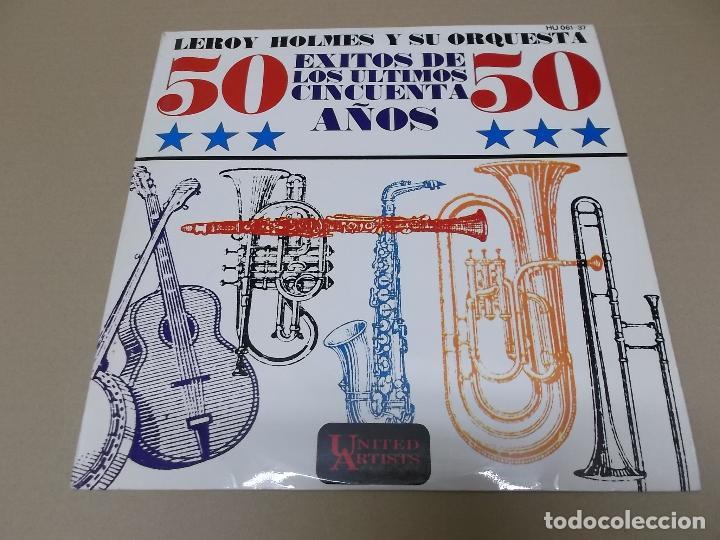 LEROY HOLMES Y SU ORQUESTA (LP) 50 EXITOS DE LOS ULTIMOS 50 AÑOS AÑO 1972 (Música - Discos - LP Vinilo - Orquestas)