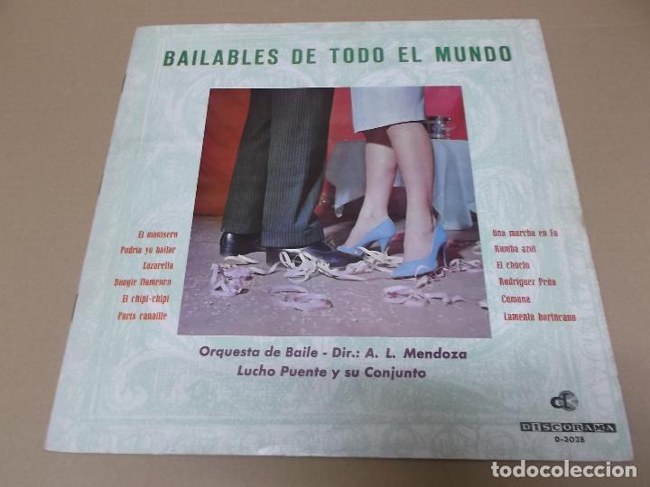 LUCHO PUENTE Y SU CONJUNTO (LP) BAILABLES DE TODO EL MUNDO AÑO 1964 – PORTADA ABIERTA (Música - Discos - LP Vinilo - Orquestas)