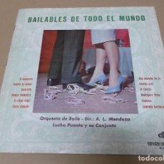 Discos de vinilo: LUCHO PUENTE Y SU CONJUNTO (LP) BAILABLES DE TODO EL MUNDO AÑO 1964 – PORTADA ABIERTA. Lote 120340539