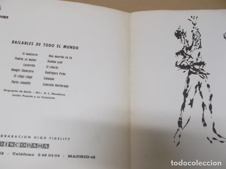 Discos de vinilo: LUCHO PUENTE Y SU CONJUNTO (LP) BAILABLES DE TODO EL MUNDO AÑO 1964 – PORTADA ABIERTA - Foto 2 - 120340539