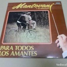 Discos de vinilo: MANTOVANI (LP) PARA TODOS LOS AMANTES AÑO 1980 – DOBLE DISCO CON PORTADA ABIERTA. Lote 120344583