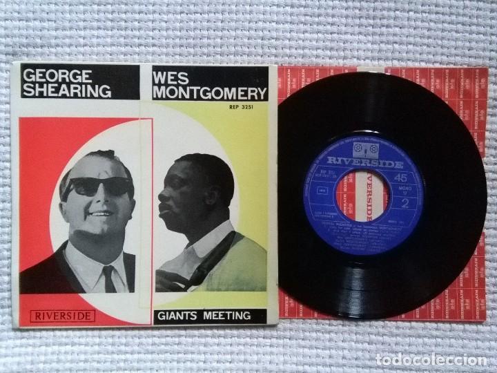 GEORGE SHEARING WES MONTGOMERY - '' S/T '' EP 7'' SPAIN MONO 1964 (Música - Discos de Vinilo - EPs - Jazz, Jazz-Rock, Blues y R&B)