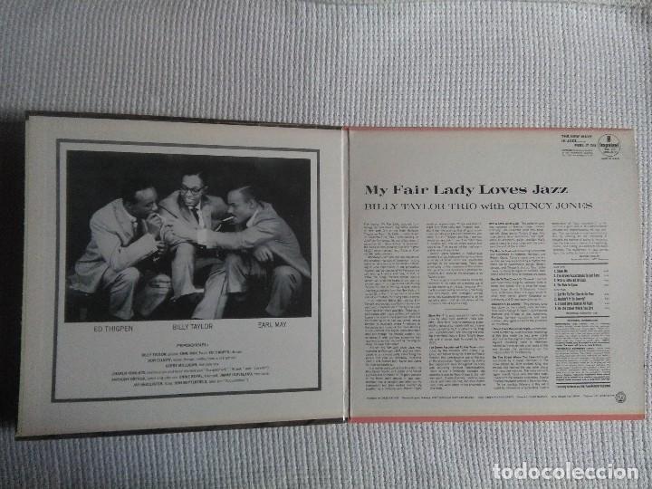 Discos de vinilo: BILLY TAYLOR TRIO WITH QUINCY JONES - MY FAIR LADY LOVES JAZZ LP ORIGINAL SPAIN 1965 MONO - Foto 2 - 120351175
