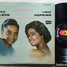 Discos de vinilo: JACKIE WILSON & LINDA HOPKINS - '' SHAKE A HAND '' LP 1ST PRESSING 1963 USA. Lote 120352027