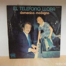 Discos de vinilo: LP DOMENICO MODUGNO : EL TELEFONO LLORA. Lote 120359487