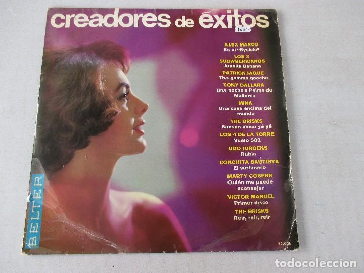 CREADORES DE ÉXITOS VVAA BELTER 1966 LOS 3 SUDAMERICANOS MINA LOS 4 DE LA TORRE CONCHITA BAUTISTA (Música - Discos - LP Vinilo - Grupos Españoles 50 y 60)