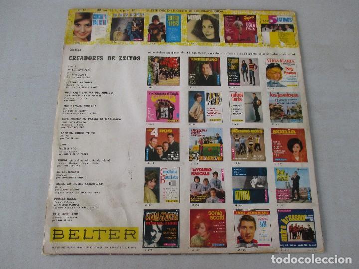 Discos de vinilo: Creadores de éxitos VVAA BELTER 1966 Los 3 Sudamericanos Mina Los 4 de la Torre Conchita Bautista - Foto 2 - 120360291