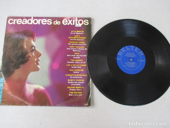 Discos de vinilo: Creadores de éxitos VVAA BELTER 1966 Los 3 Sudamericanos Mina Los 4 de la Torre Conchita Bautista - Foto 3 - 120360291