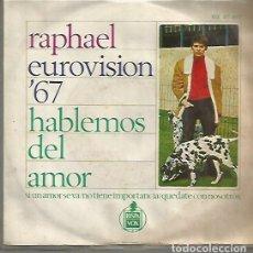 Discos de vinilo: RAPHAEL EP SELLO GAMMA-HISPAVOX EDITADO EN MEXICO . Lote 120367035