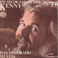 Disques de vinyle: KENNY ROGERS - YOU DECORATED MY LIFE / ONE MAN'S WOMAN (SINGLE ESPAÑOL, UA RECORDS 1979). Lote 120399443