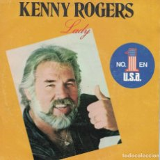 Discos de vinilo: KENNY ROGERS - LADY / SWEET MUSIC MAN (SINGLE ESPAÑOL, LIBERTY 1980). Lote 120400979
