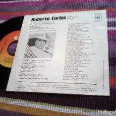Disques de vinyle: ROBERTO CARLOS: CANTA EN ESPAÑOL:EL PROGRESO (O PROGRESSO) / TÚ EN MI VIDA (VOCÊ EM MINHA VIDA) 1977. Lote 120402315