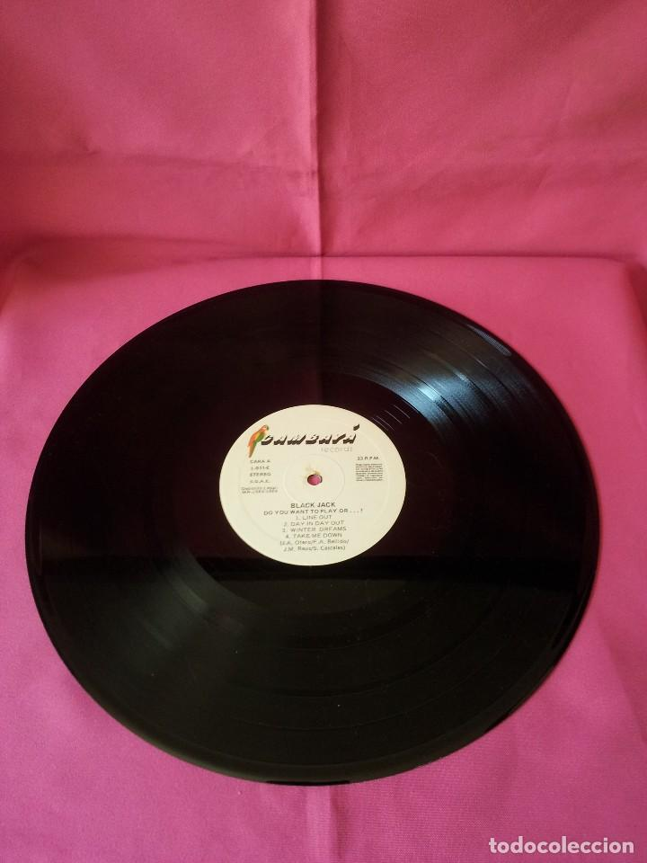 Discos de vinilo: BLACK JACK - LP, DO YOU WANT TO PLAY, OR...? - CAMBAYA RECORDS 1989 - Foto 5 - 120420175
