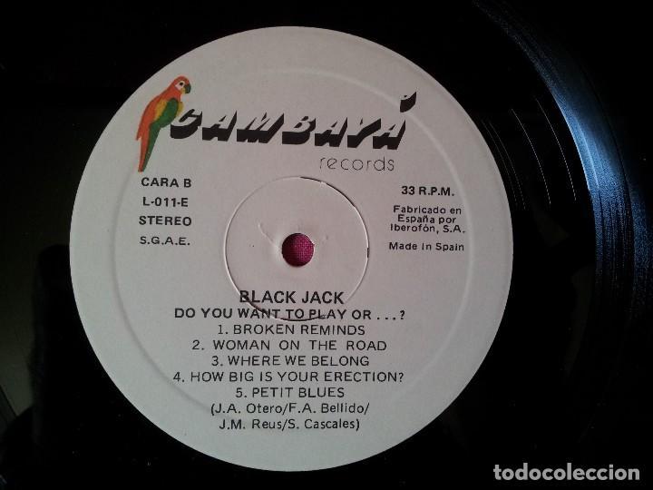 Discos de vinilo: BLACK JACK - LP, DO YOU WANT TO PLAY, OR...? - CAMBAYA RECORDS 1989 - Foto 8 - 120420175