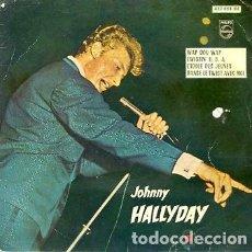 Discos de vinilo: EP JOHNNY HALLYDAY EDITADO EN ESPAÑA WAP DOU WAP /TWISTIN USA/L'IDOLE DES JEUNES/DANSE LE TWIST AVEC. Lote 120434099