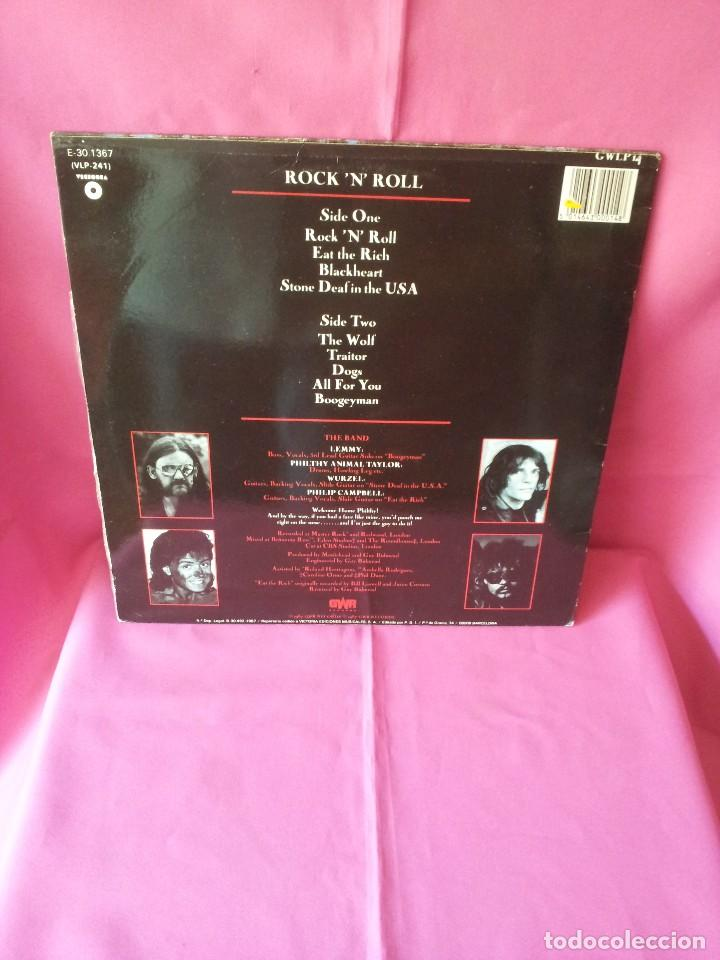 Discos de vinilo: MOTÖRHEAD - ROCK 'N' ROLL - GWR RECORDS 1987 - Foto 2 - 135238910