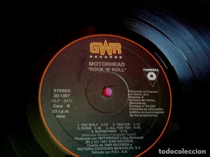 Discos de vinilo: MOTÖRHEAD - ROCK 'N' ROLL - GWR RECORDS 1987 - Foto 6 - 135238910