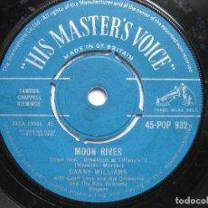 Discos de vinilo: DANNY WILLIAMS - MOON RIVER. Lote 120452067