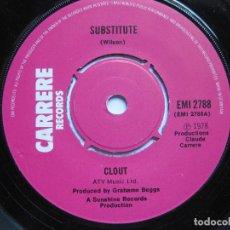 Discos de vinilo: CLOUT - SUBSTITUTE. Lote 120452179