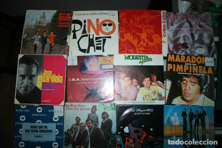 LOTE DE 60 DISCOS SINGLES DIFERENTES ESTILOS (Música - Discos - Singles Vinilo - Otros estilos)
