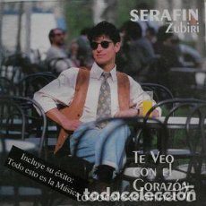Discos de vinilo: SERAFIN ZUBIRI ( TE VEO CON EL CORAZON) LP 1992 ESPAÑA. Lote 120495111
