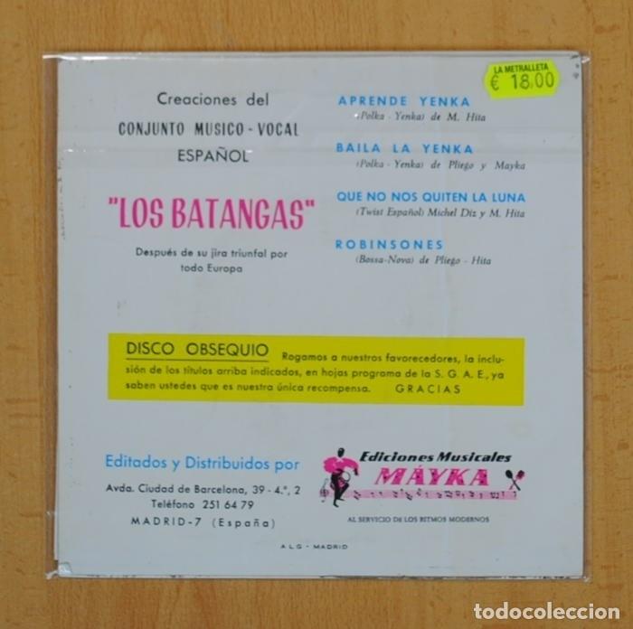 Discos de vinilo: LOS BATANGAS - APRENDE YENKA + 3 - EP - Foto 2 - 120503939
