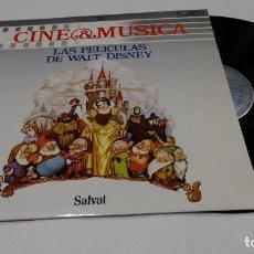 Discos de vinilo: LAS PELÍCULAS DE WALT DISNEY - CINE& MÚSICA LP 1987. Lote 120515663