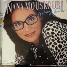 Discos de vinilo: NANA MOUSKORI CON TODA EL ALMA. Lote 120540575