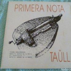 Discos de vinilo: PRIMERA NOTA PARA RADIO S. ANDREU DE LA BARCA. Lote 120542915