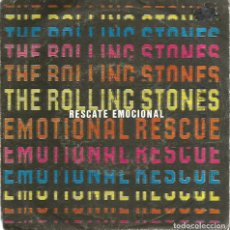 Discos de vinilo: SG THE ROLLING STONES : EMOTIONAL RESCUE ( RESCATE EMOCIONAL) + DOWN IN THE HOLE ( DENTRO DEL AGUJER. Lote 120545383