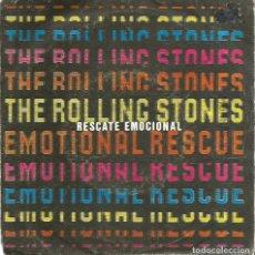 Discos de vinilo: SG THE ROLLING STONES : EMOTIONAL RESCUE ( RESCATE EMOCIONAL) + DOWN IN THE HOLE ( DENTRO DEL AGUJER. Lote 120545383
