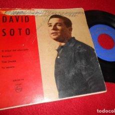 Disques de vinyle: DAVID SOTO EL ARBOL DEL AHORCADO/BRUJERIA/TRES JINETES/TU RETRATO EP 1960 PHILIPS. Lote 120552727