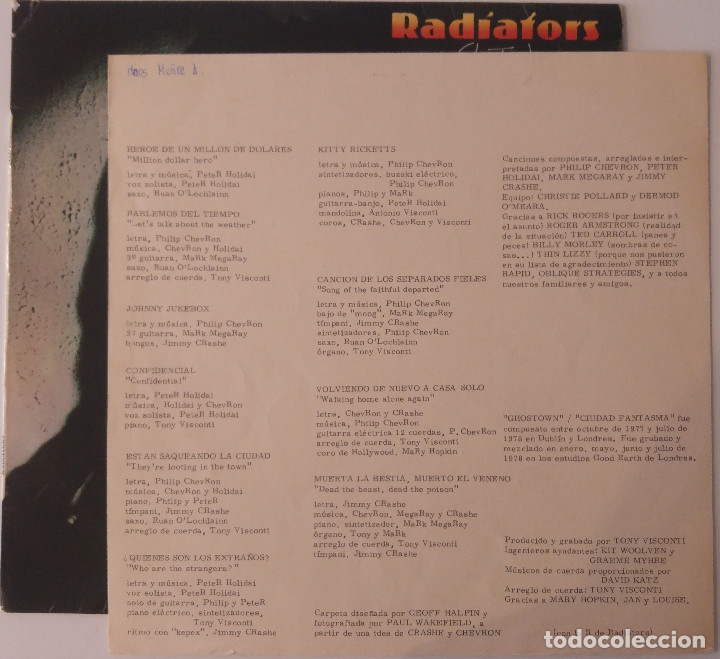 Discos de vinilo: radiators..ghostown.ciudad fantasma.(chiswick 1979).spain. - Foto 4 - 64633867