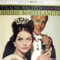 Discos de vinilo: ANDRE KOSTELANETZ AND HIS ORCHESTRA – STRAUSS WALTZES (ED.: ESPAÑA, 1976). Lote 120581507