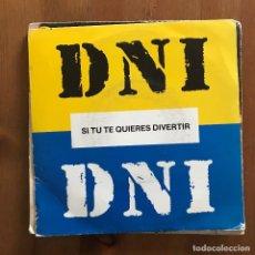 Discos de vinilo: DNI - SI TÚ TE QUIERES DIVERTIR - SINGLE TROYA 1990. Lote 120604839