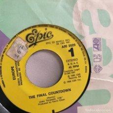 Discos de vinilo: EUROPE - THE FINAL COUNTDOWN (REMIX) - SINGLE EPIC 1986 PROMO. Lote 120626491