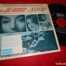 Discos de vinilo: UN HOMBRE Y UNA MUJER BSO OST /MAS FUERTE QUE NOSOTROS/+1 7'' EP 1966 SPAIN EDICION ESPAÑOLA. Lote 120642659