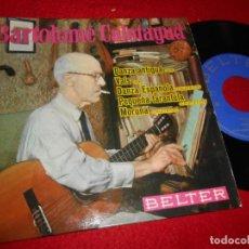 Discos de vinilo: BARTOLOME CALATAYUD DANZA ANTIGUA/VALS/+3 7'' EP 1963 BELTER SPAIN EDICION ESPAÑOLA GUITARRA GUITAR. Lote 120645259