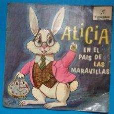 Discos de vinilo: ALICIA EN EL PAIS DE LAS MARAVILLAS. Lote 120648987