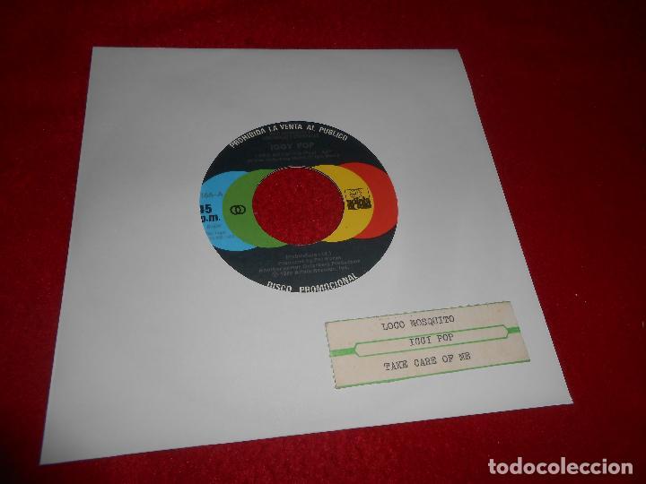 IGGY POP LOCO MOSQUITO/TAKE CARE OF ME 7'' SINGLE 1980 ARIOLA PROMO SPAIN EDICION ESPAÑOLA JUKEBOX (Música - Discos - Singles Vinilo - Punk - Hard Core)
