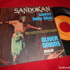 Discos de vinilo: SANDOKAN BSO OST GUIDO&MAURIZIO DE ANGELIS SANDOKAN/+1 7'' SINGLE 1976 RCA SPAIN EDICION ESPAÑOLA. Lote 120665207