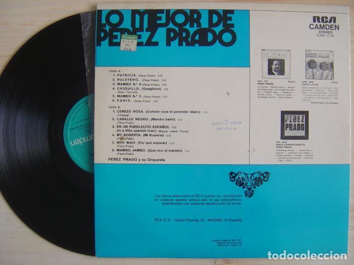 Discos de vinilo: LO MEJOR DE PEREZ PRADO - LP ESPAÑOL 1971 - RCA - Foto 2 - 120675447