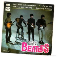 Discos de vinilo: THE BEATLES: EXT. PLAY ESPAÑOL-1966 -ODEON DSOE 16705-FOR NO ONE +3-MUY BIEN. Lote 120680835