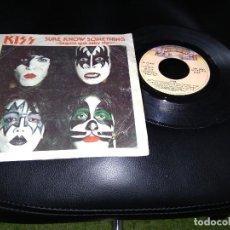 Discos de vinilo: KISS / SEGURO QUE SABE ALGO / SINGLE 45 RPM / CASABLANCA . Lote 120695155