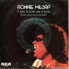 Discos de vinilo: RONNIE MILSAP / FUE COMO UNA CANCION / SOÑAR NO HACE DAÑO (SINGLE PROMO 1977). Lote 120706947