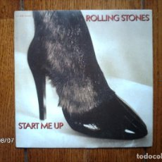 Discos de vinilo: THE ROLLING STONES - START ME UP + NO USE IN CRYING . Lote 120709507